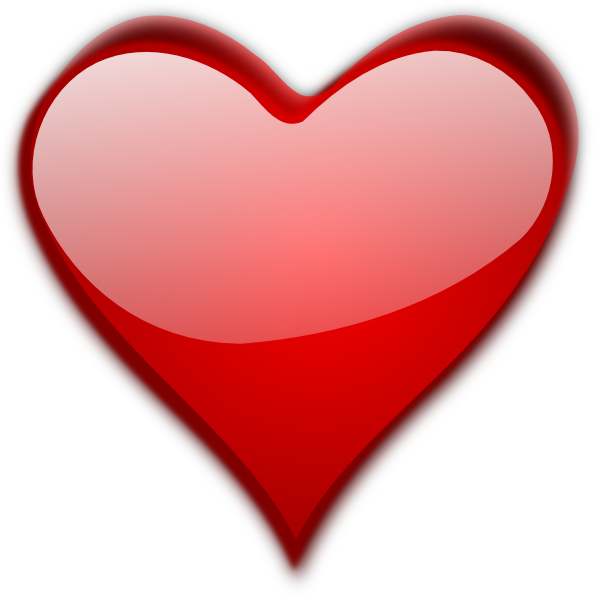 Valentine day heart picture. Hearts clipart ribbon