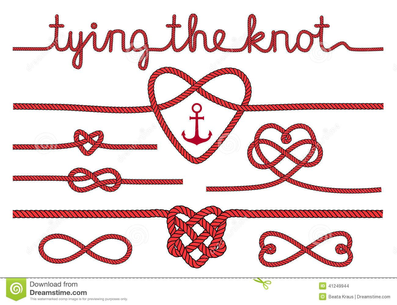 knot clipart rope heart