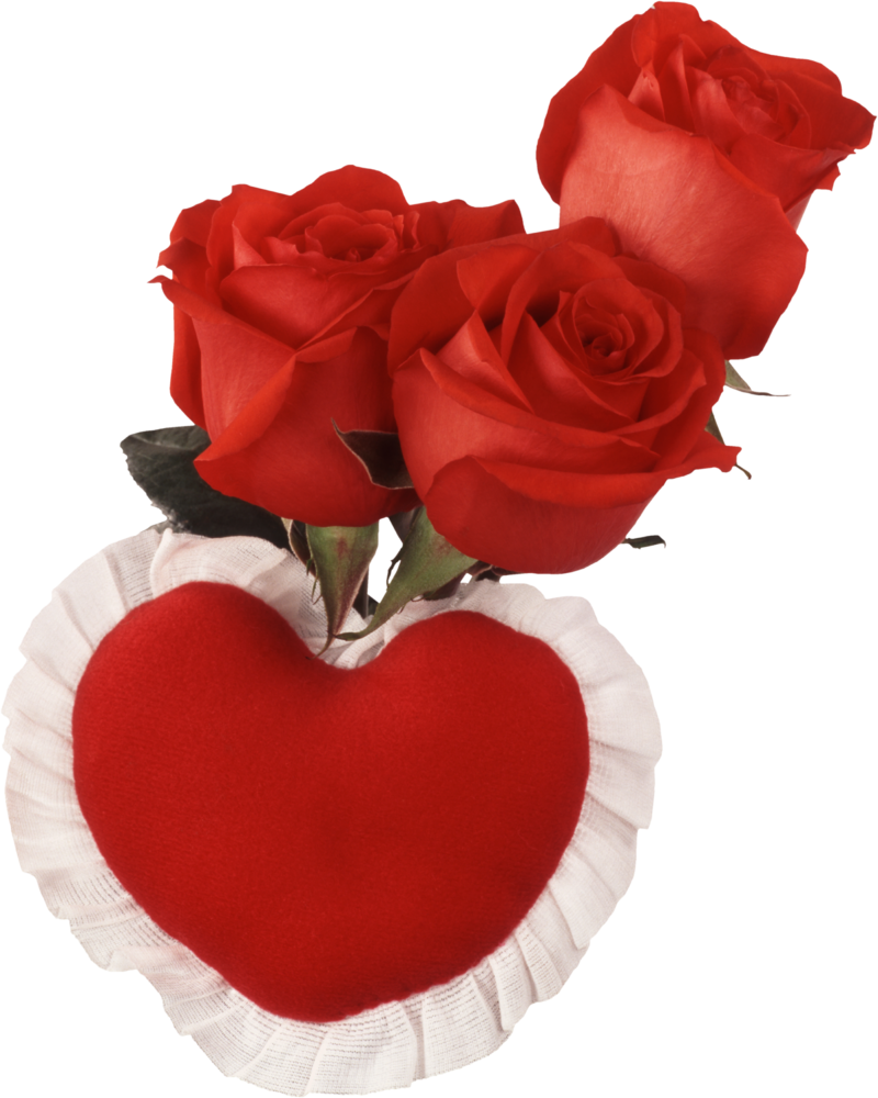 Red heart and roses. Hearts clipart rose