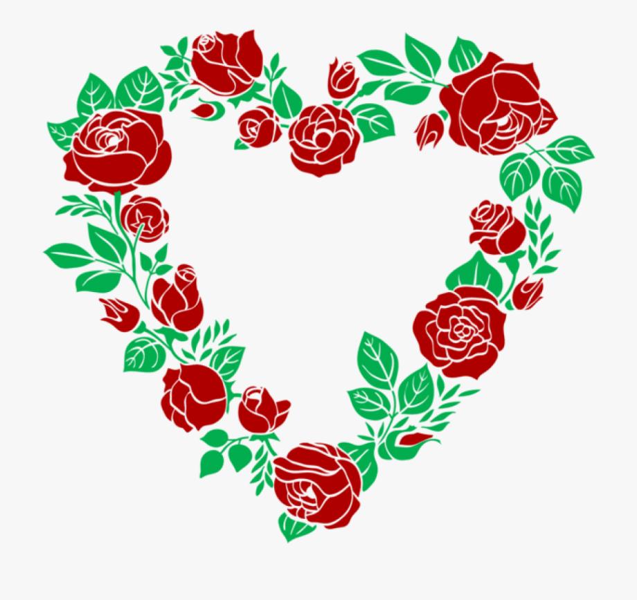 Hearts clipart rose. Gold flower frame png