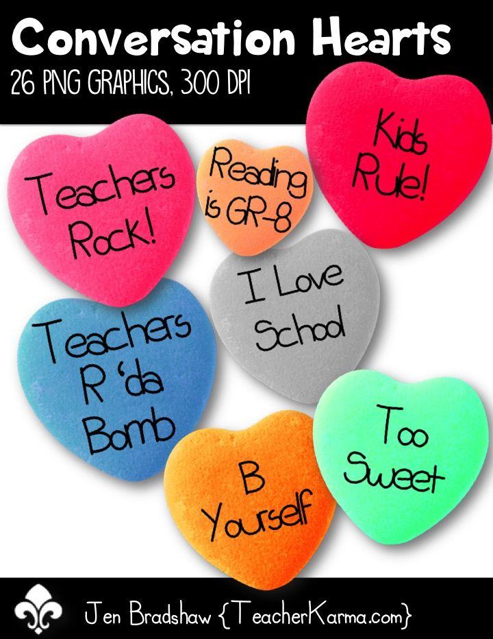 Conversation valentine s day. Hearts clipart school