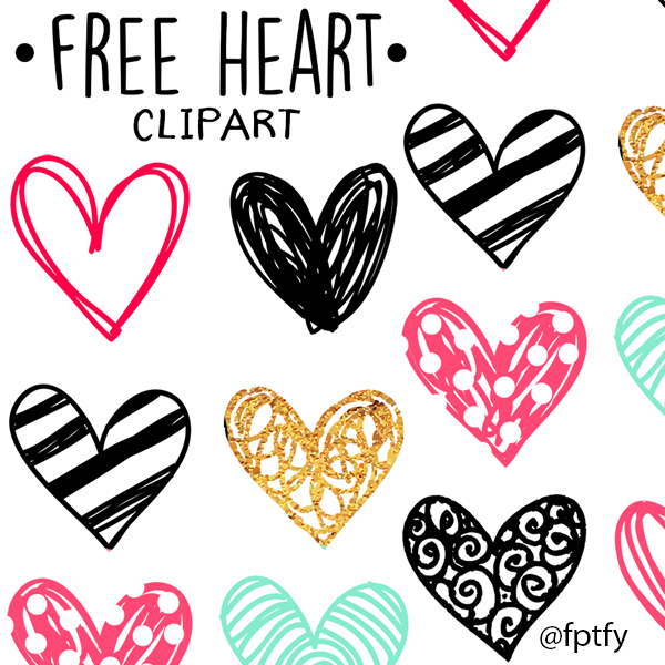 Hearts clipart scribble. Free doodle heart clip