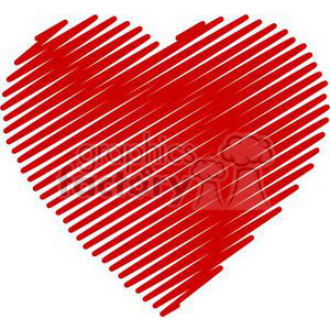 Scribbled heart royalty free. Hearts clipart scribble