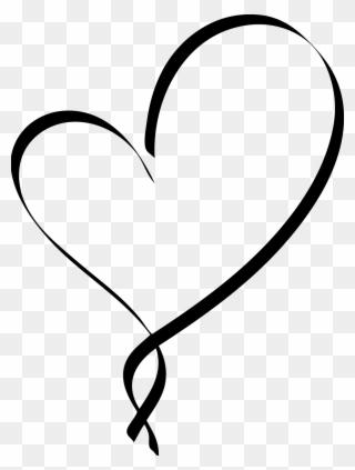 Heart fancy black png. Hearts clipart script
