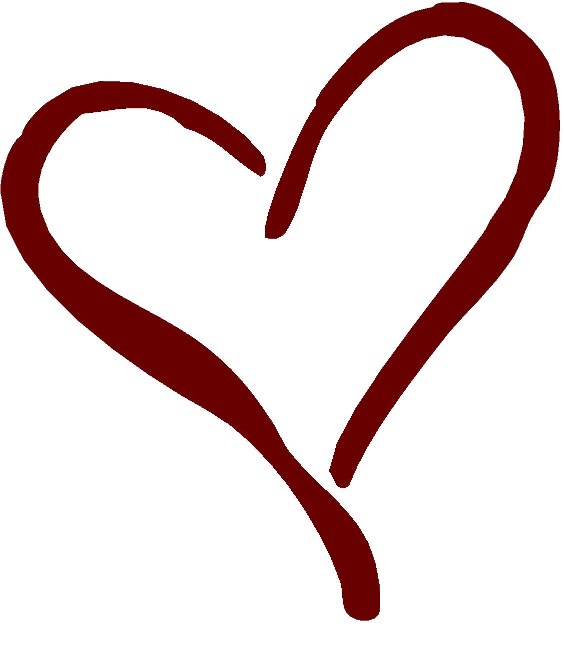 Hearts clipart script. Fancy black heart free