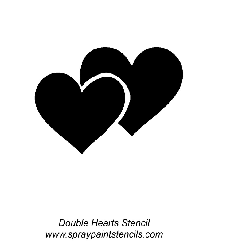 Double heart clipartfest wikiclipart. Hearts clipart silhouette