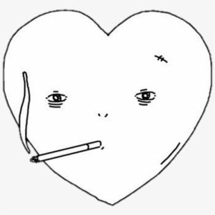Hearts clipart smoking. Heart black sad free