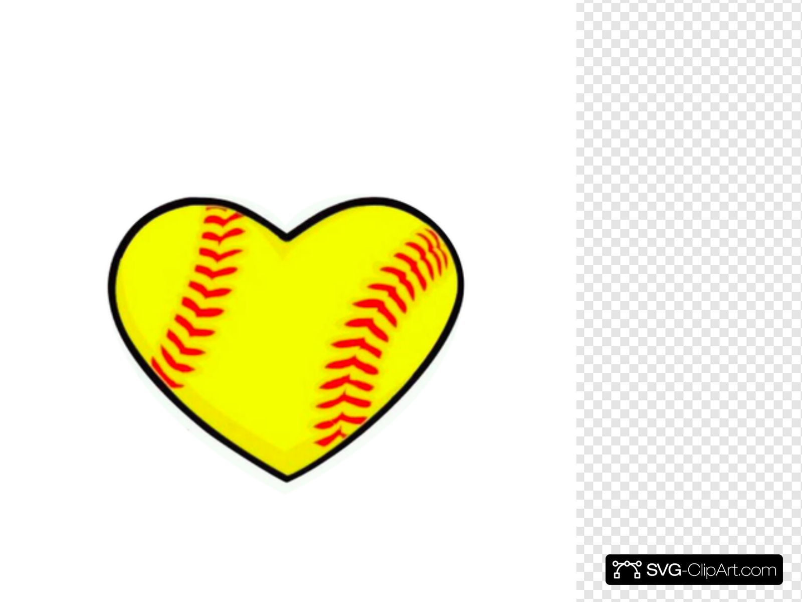 Heart clip art icon. Hearts clipart softball