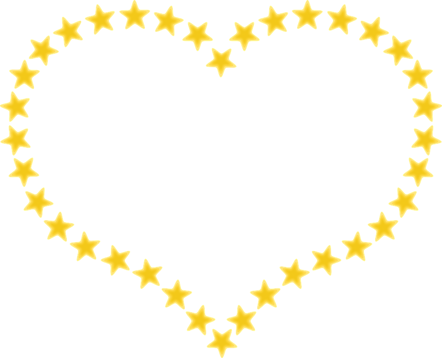 Heart outline stars transparent. Hearts clipart star