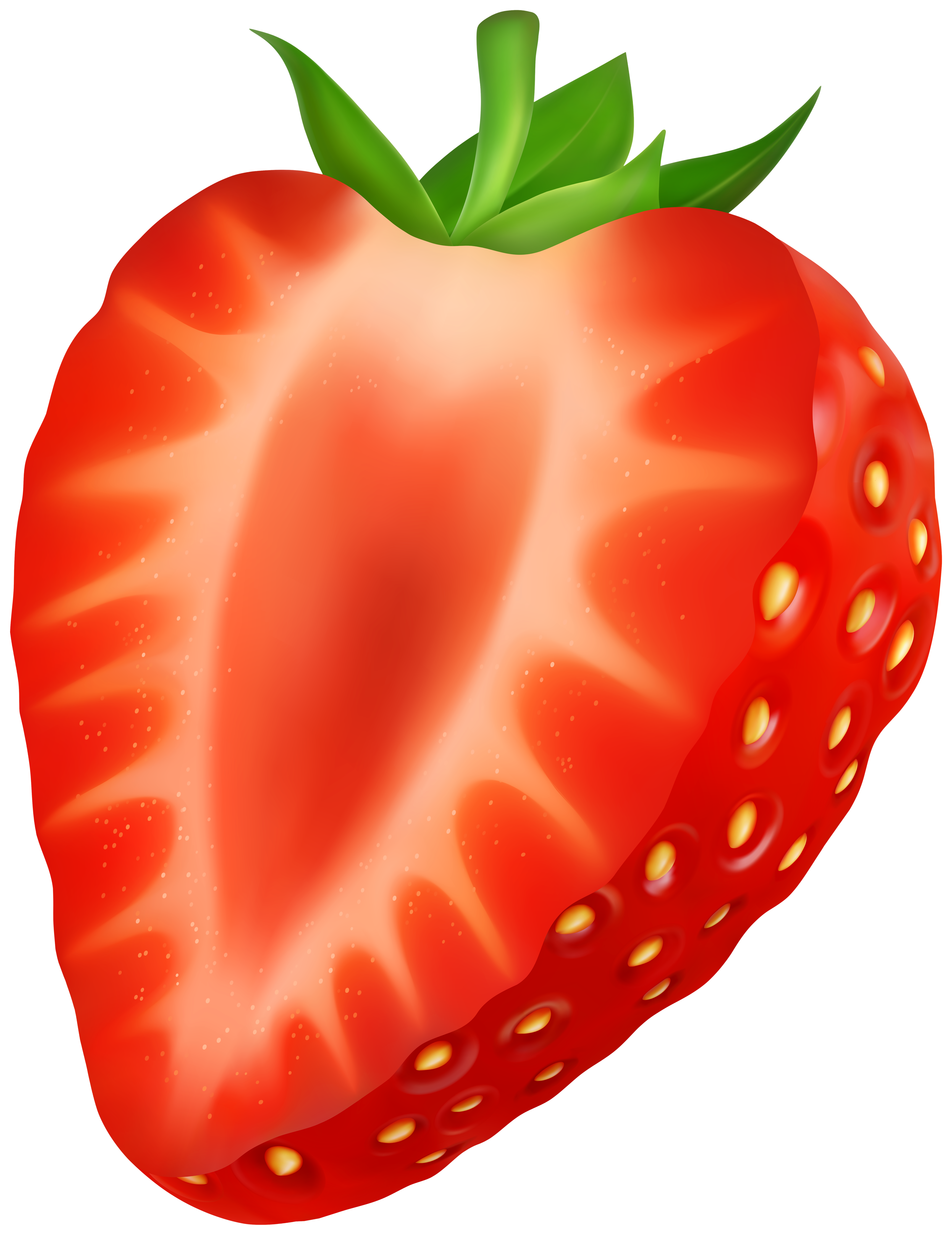 Strawberry image gallery yopriceville. Strawberries clipart half
