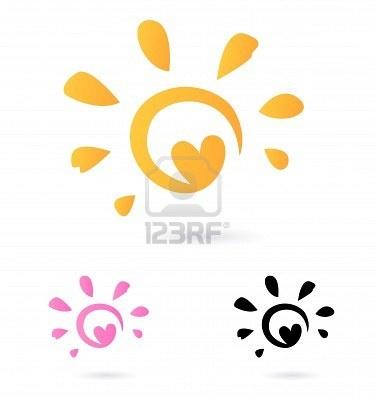 Hearts clipart sun. Free download clip art