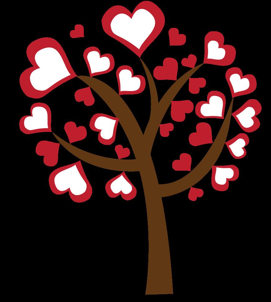 Hearts clipart tree. Cliparts zone