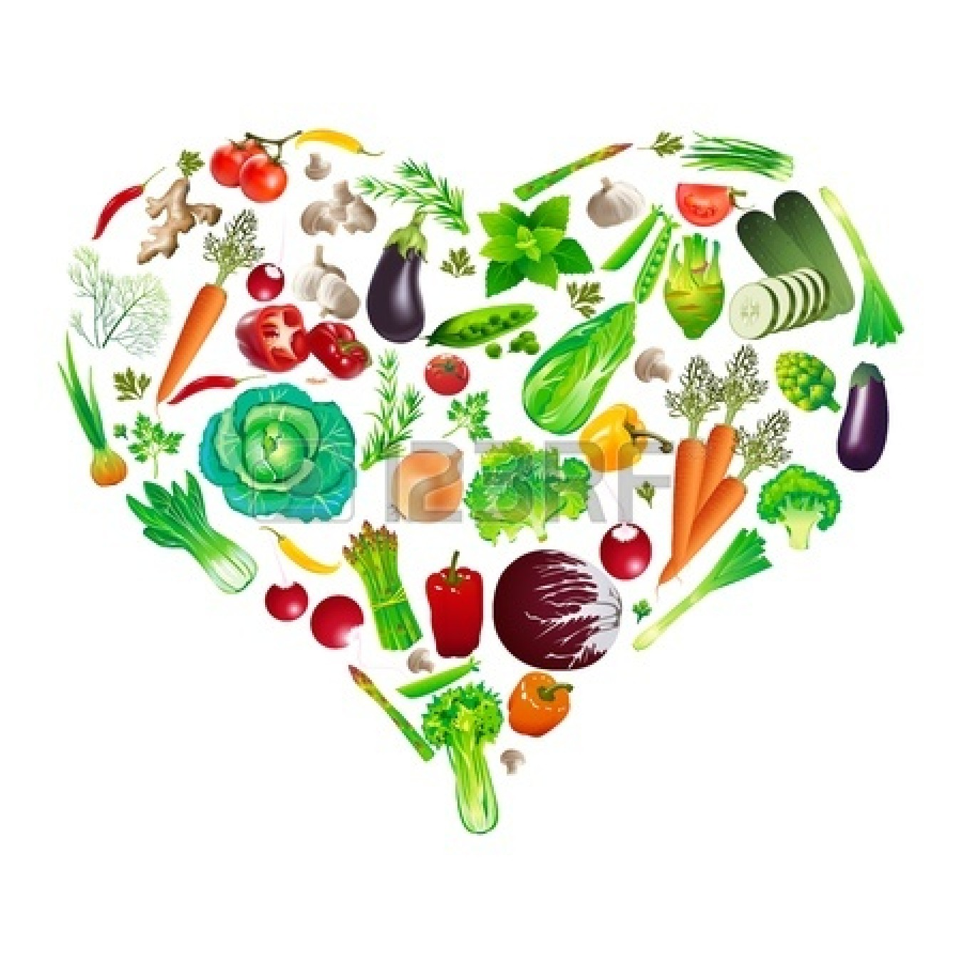 Green vegetables pictures panda. Hearts clipart vegetable