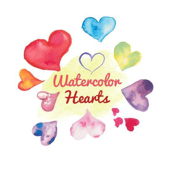 Hearts clipart water. Watercolor clip art color