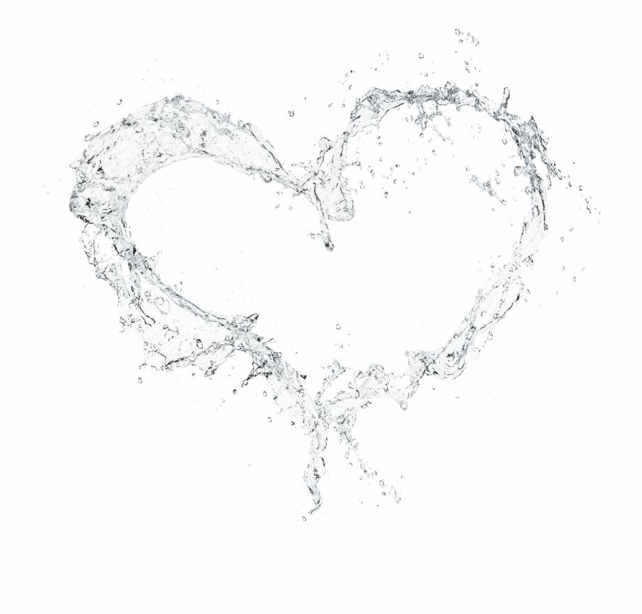 Splash heart effects effect. Hearts clipart water