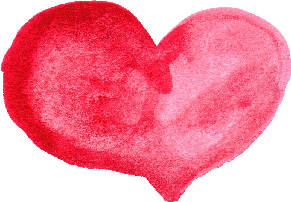 Hearts clipart watercolor.  red heart png