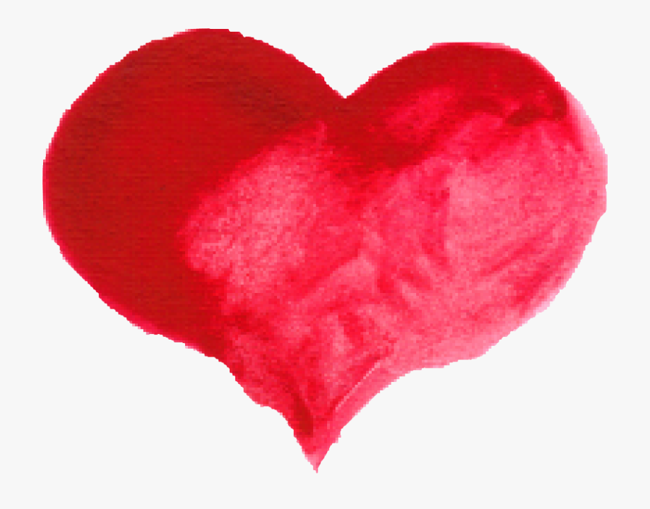 Hearts clipart watercolor. Red heart png transparent