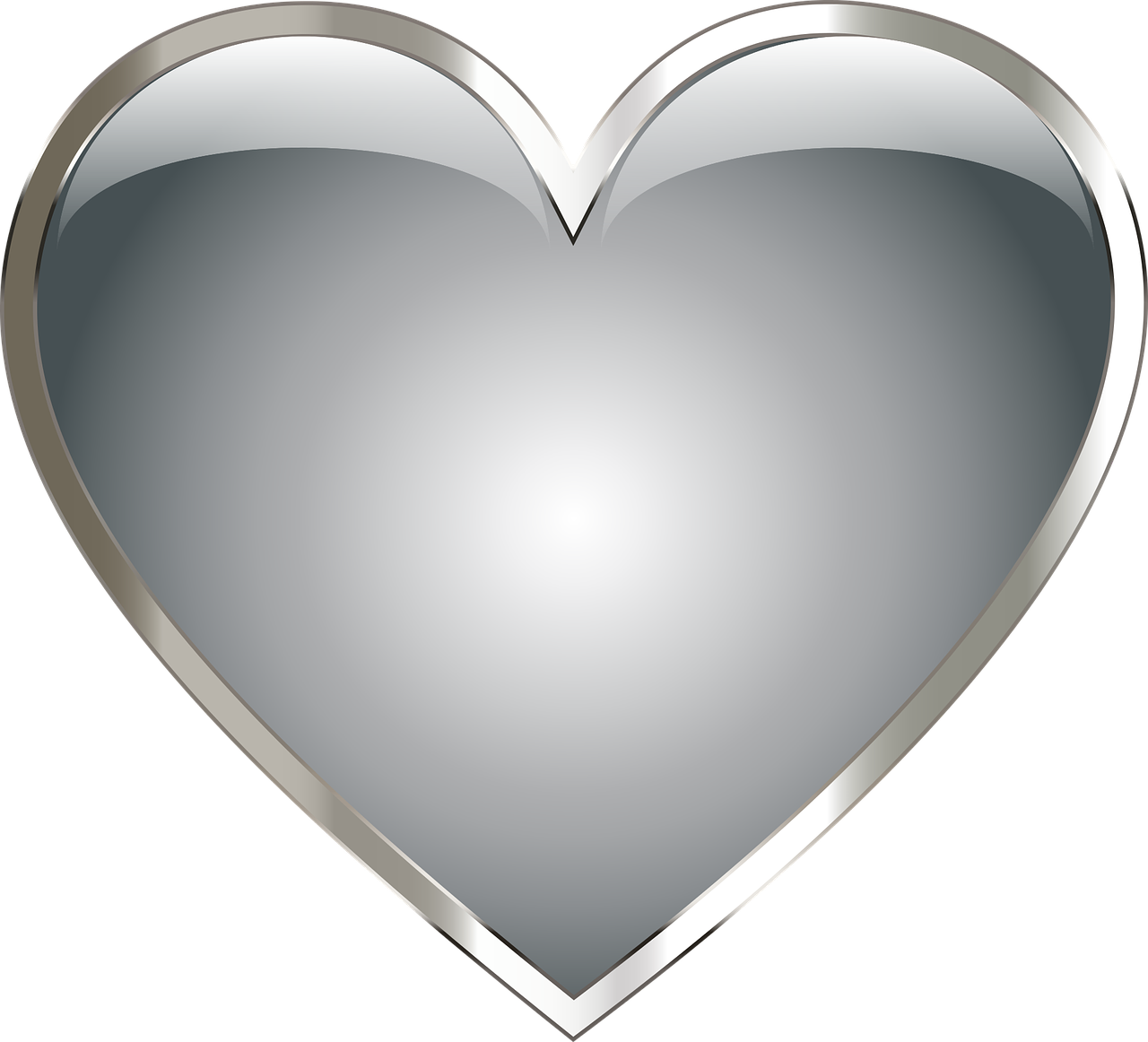 Hearts clipart watermelon. Stainless steel metal heart