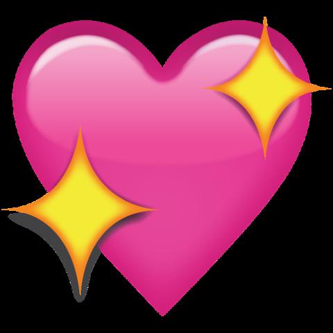 Hearts emoji png. Download sparkling pink heart