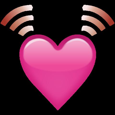 Download beating pink heart. Hearts emoji png