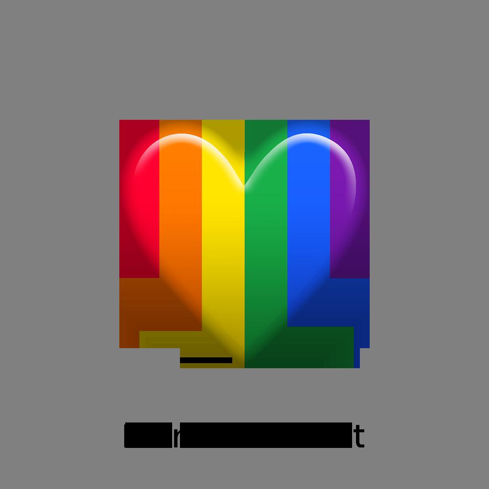 Taiwan project rainbow heart. Hearts emoji png