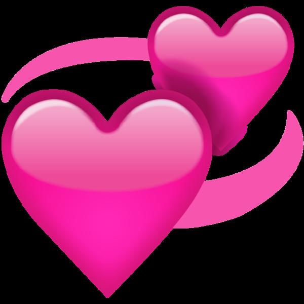 Download revolving pink icon. Hearts emoji png