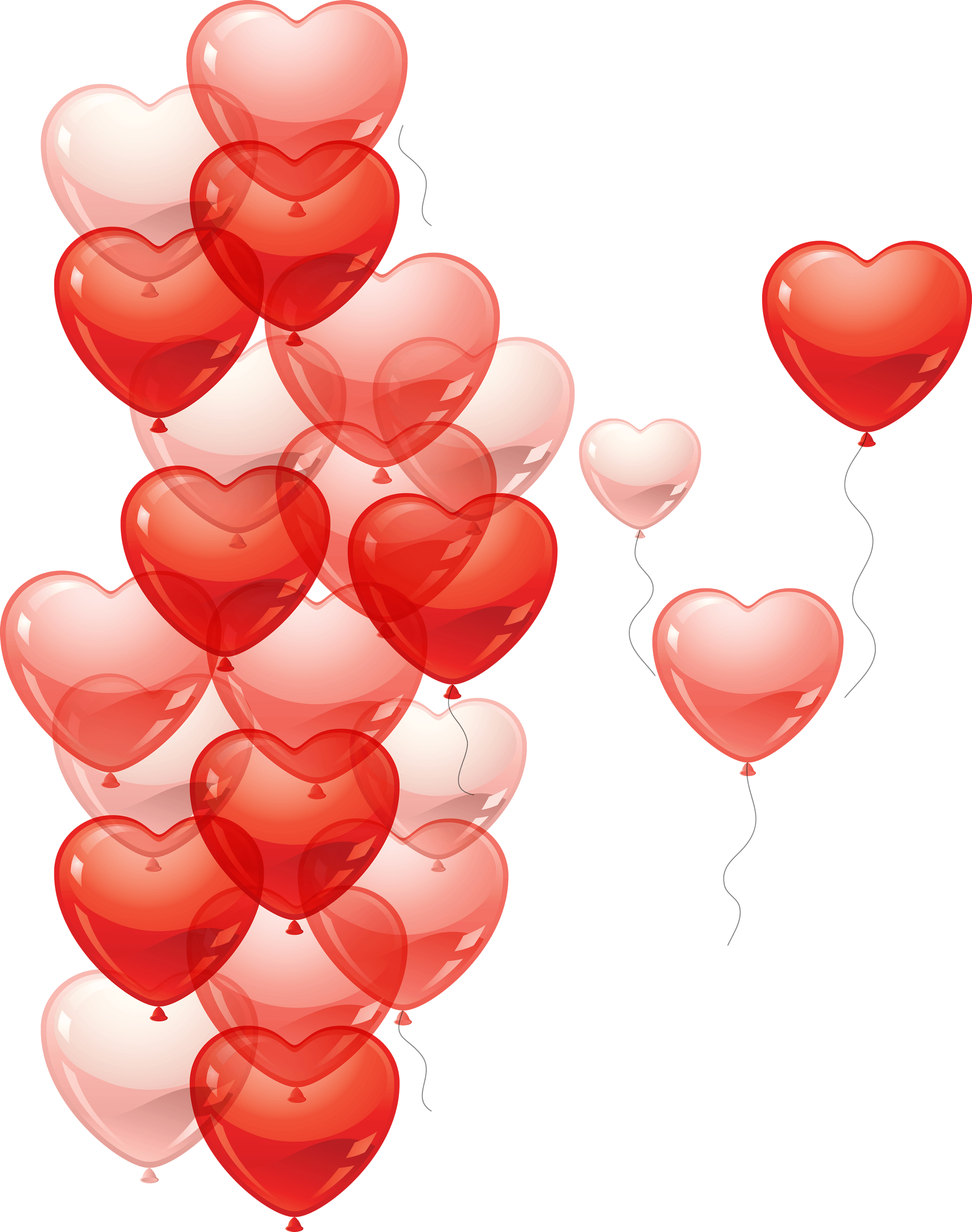 Balloons . Hearts png transparent