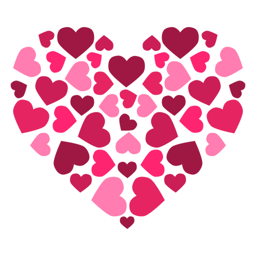 Heart made of sticker. Hearts transparent png