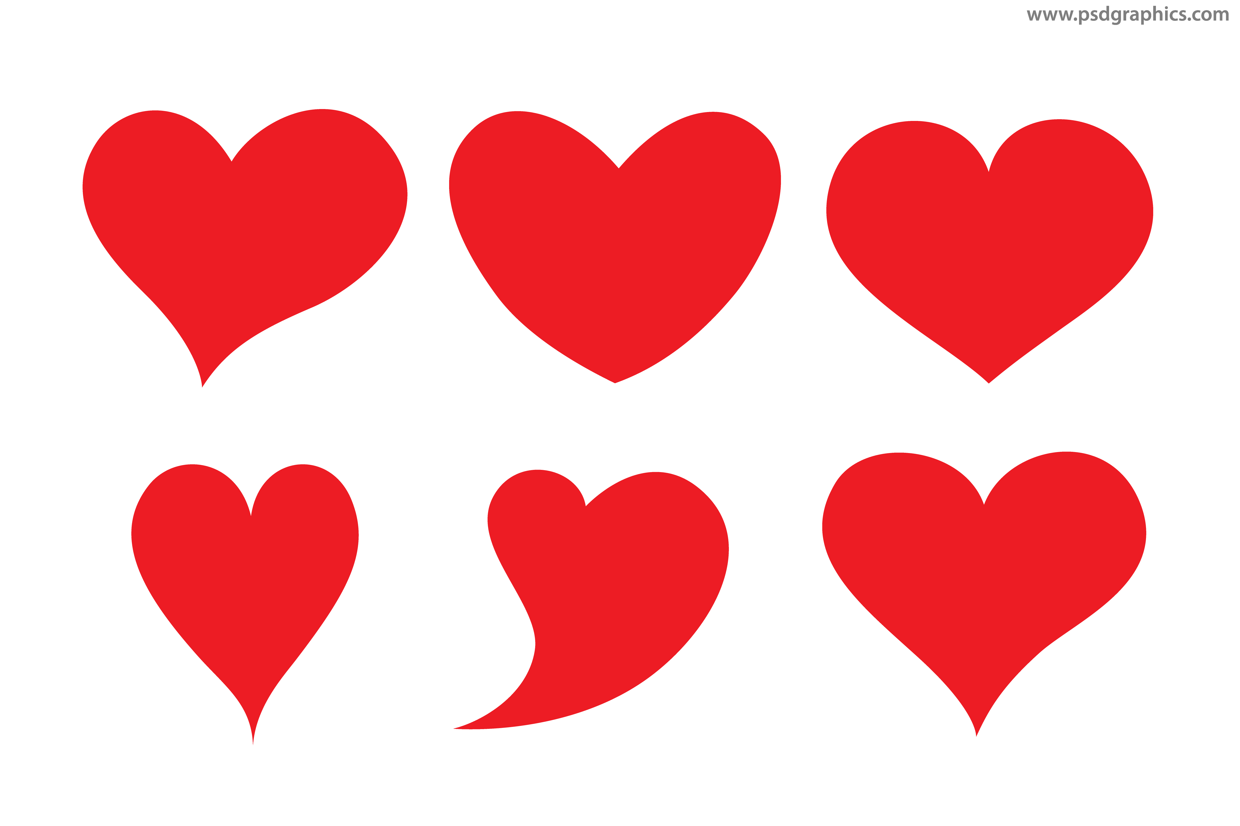 Hearts shapes psdgraphics. Heart vector png