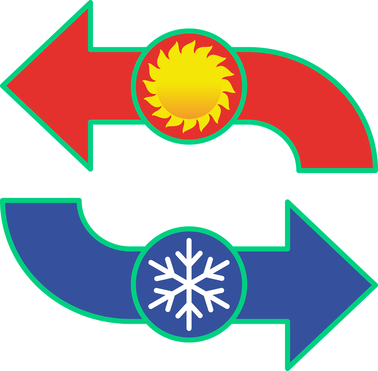 Conditioning control cooling heating. Heat clipart air temperature