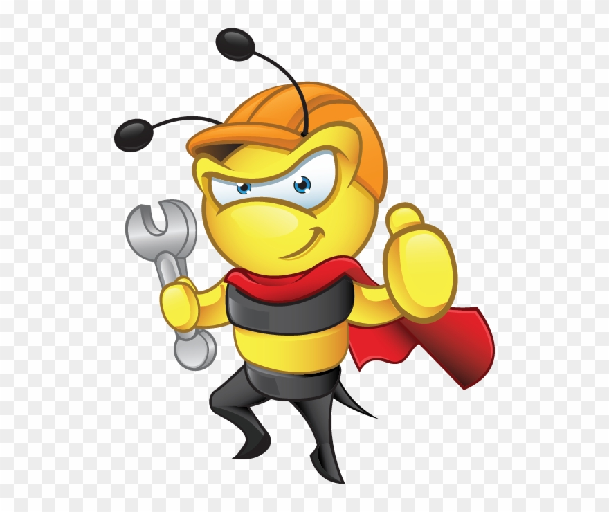 The bee ac super. Heat clipart animated