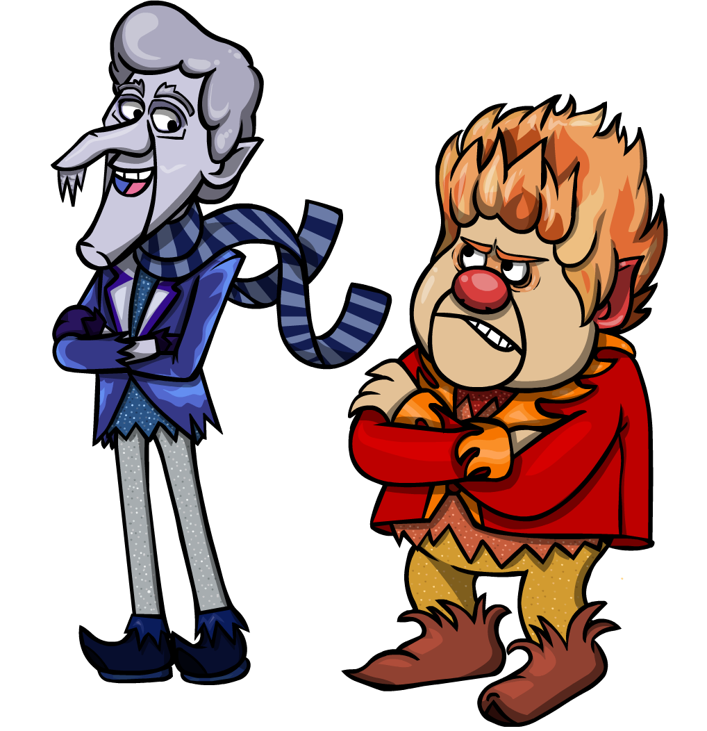 Snow miser and custom. Heat clipart cartoon