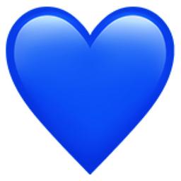 Heat clipart color heart. Blue emoji u f