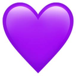 Heat clipart colored heart. Purple emoji u f