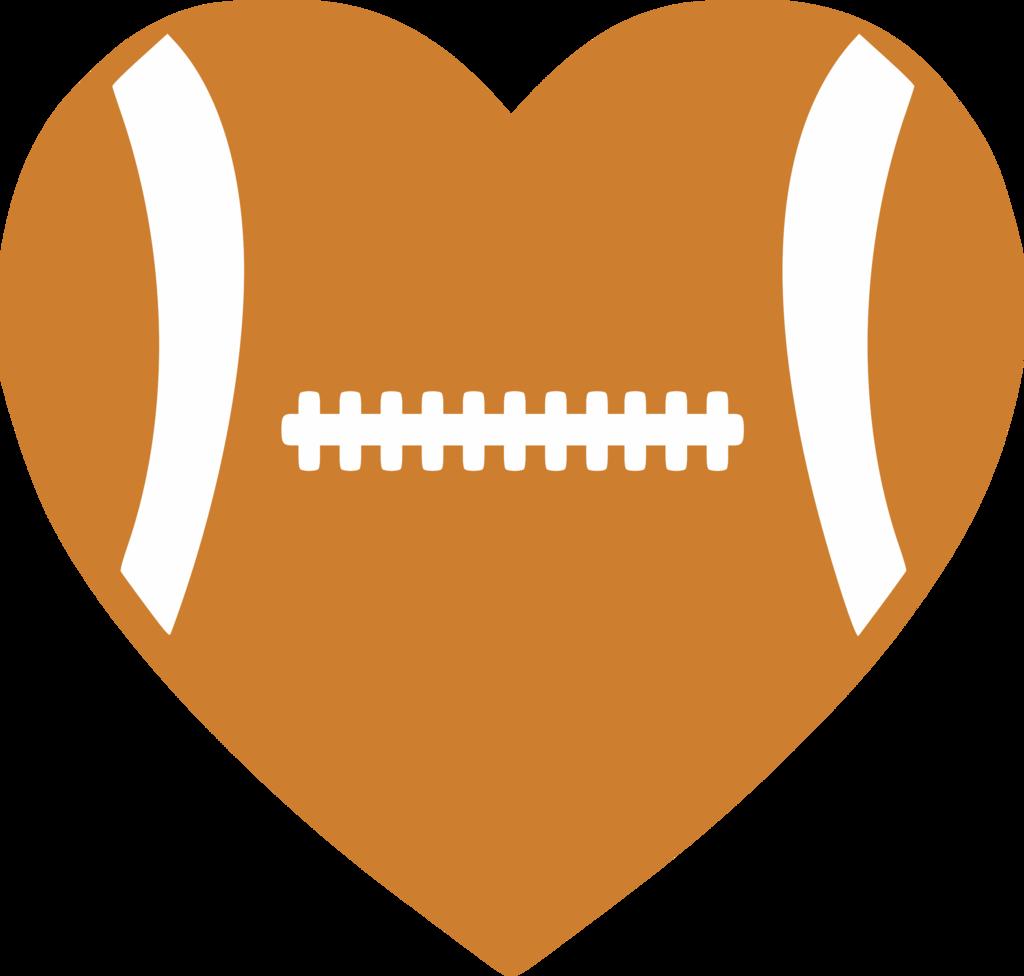 Football albb blanks. Heat clipart colorful heart