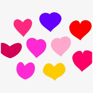 Heat clipart coloured heart. Colourful download on