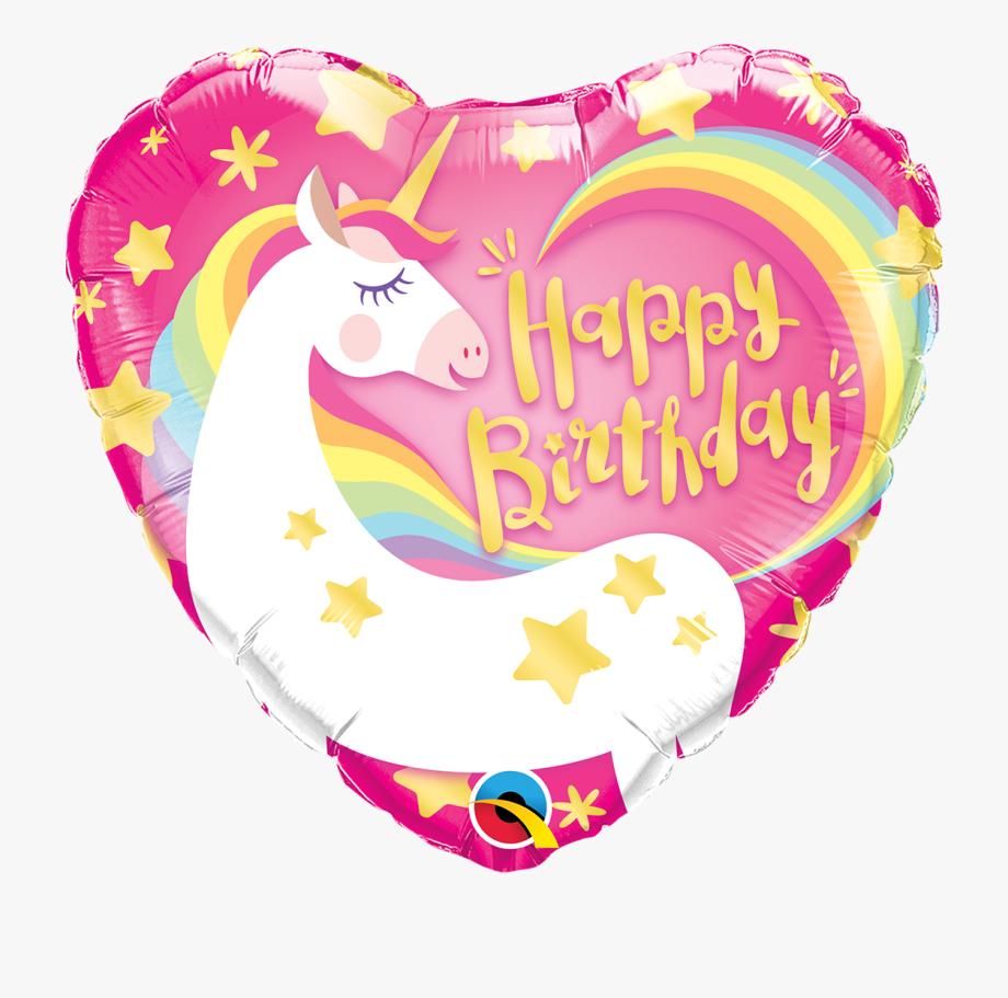Happy birthday unicorn . Heat clipart colourful heart
