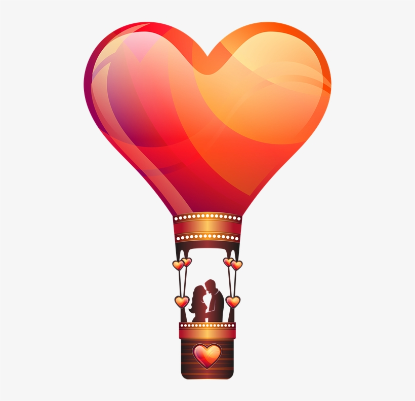Heat clipart couple heart. Air balloon love png
