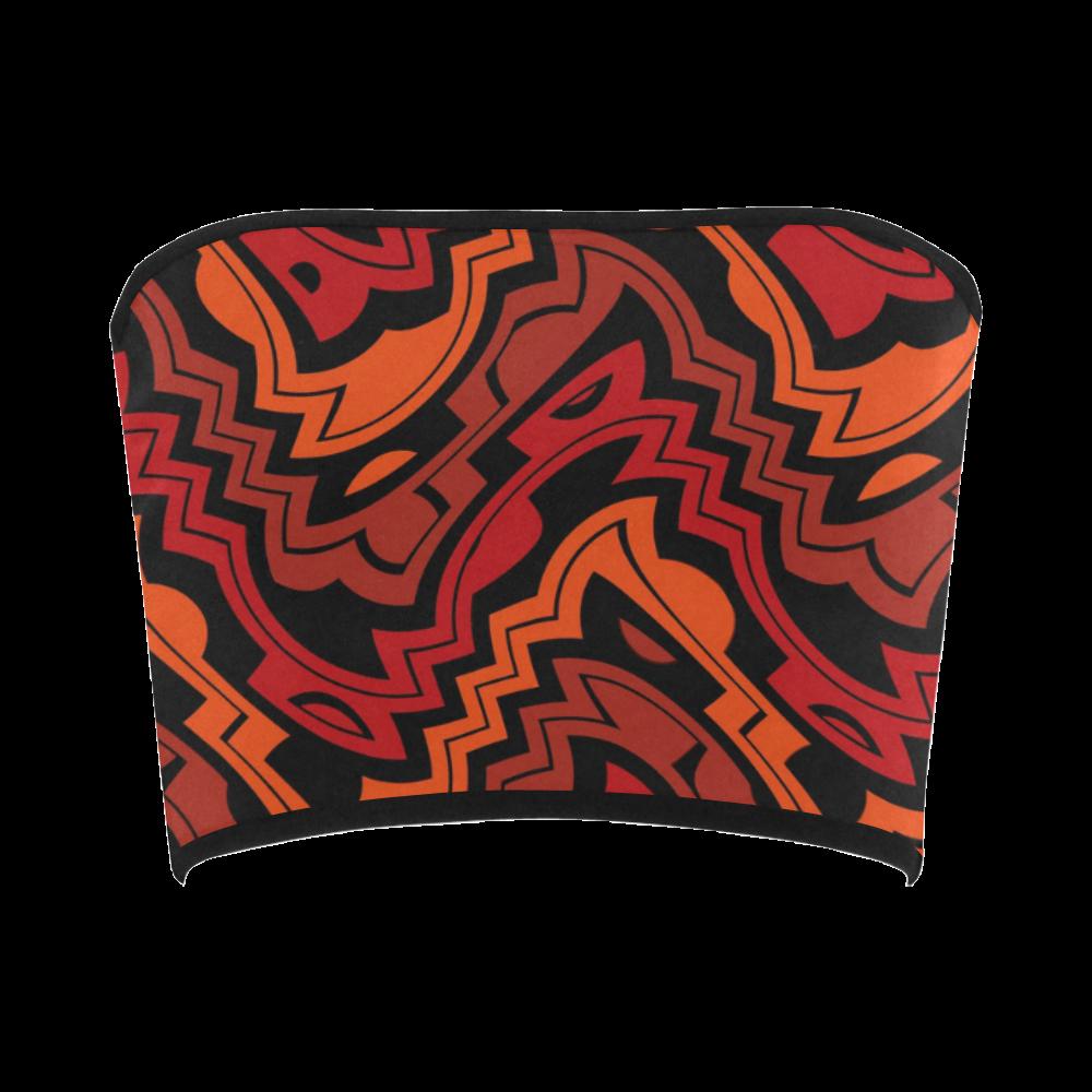 Wave bandeau top wearable. Heat clipart curvy