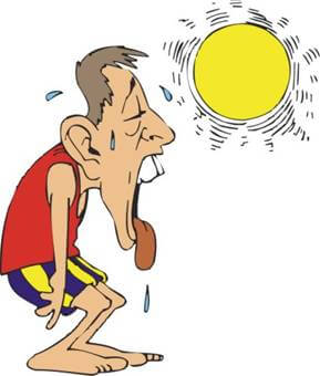 Heat clipart dehydration. Stroke or in danbury