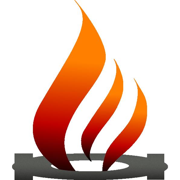 Heat clipart firepit. Deluxe log fire pit