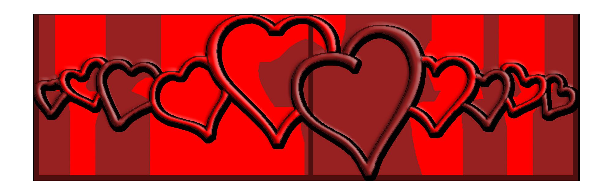 Hearts in a row. Heat clipart hears