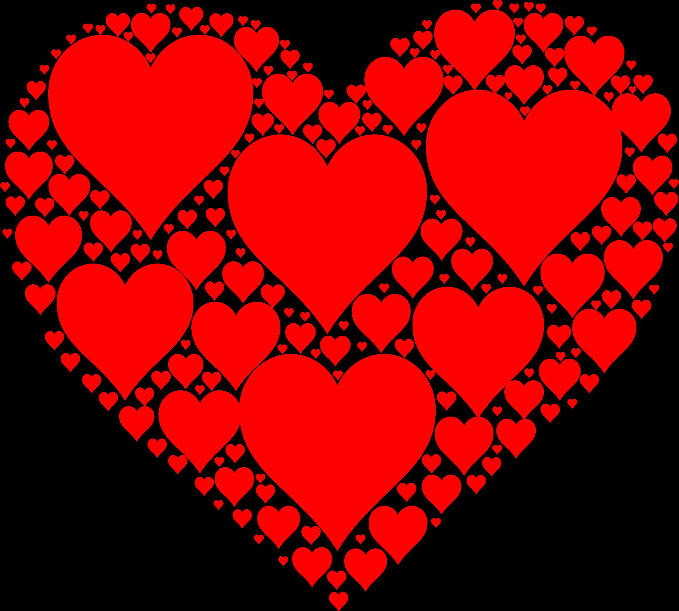 Hearts in by gdj. Heat clipart heart shape