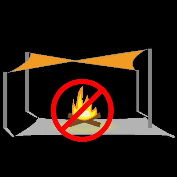 Shade sail fabric resistance. Heat clipart heat exposure