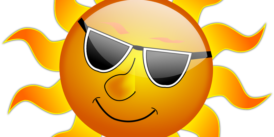 Stay cool in hot. Heat clipart heat stress