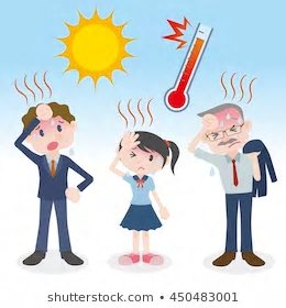 Heat clipart heat stroke. High temperatures and humidity