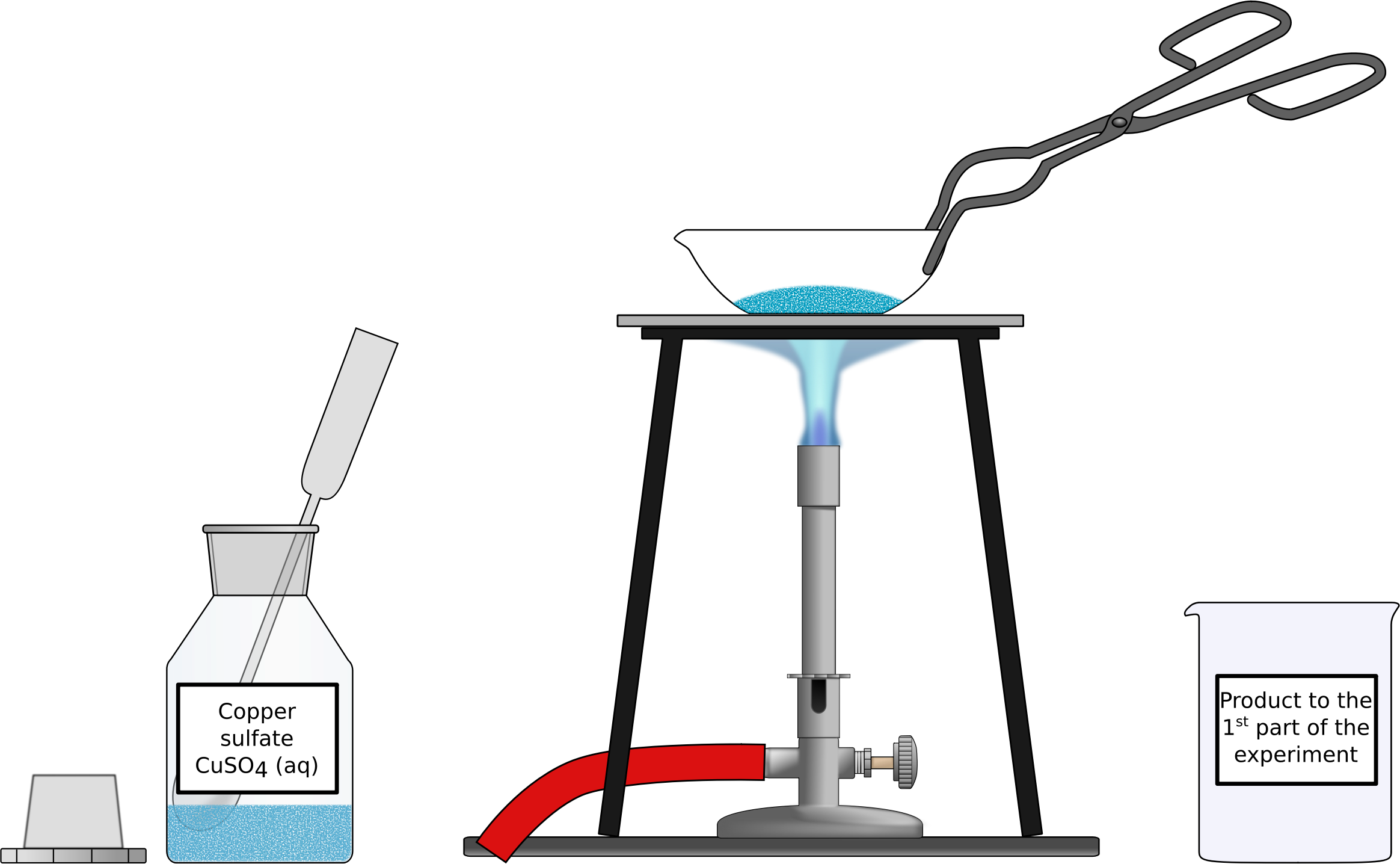 Of hydrous copper sulfate. Heat clipart heating
