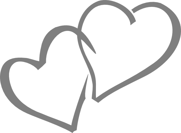 Hearts clip art vector. Heat clipart intertwined