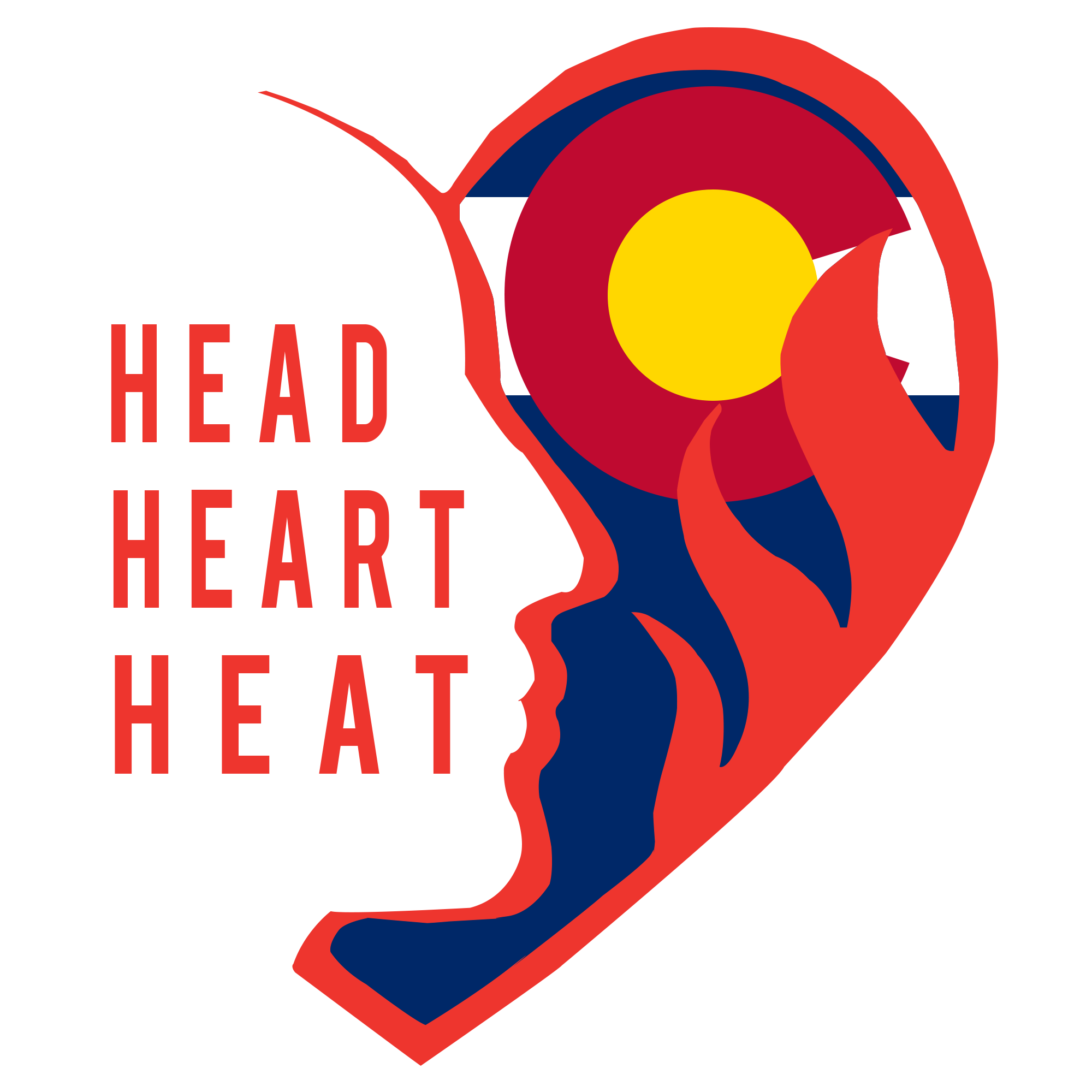 Head and logo chsaanow. Heat clipart joined heart
