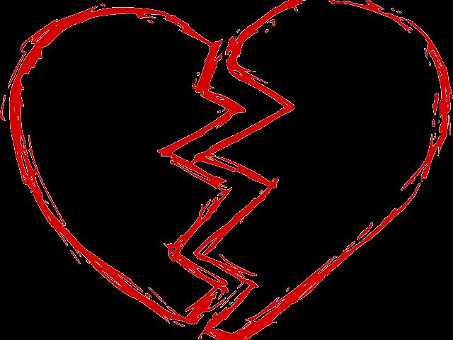 Broken png transparent . Heat clipart joined heart